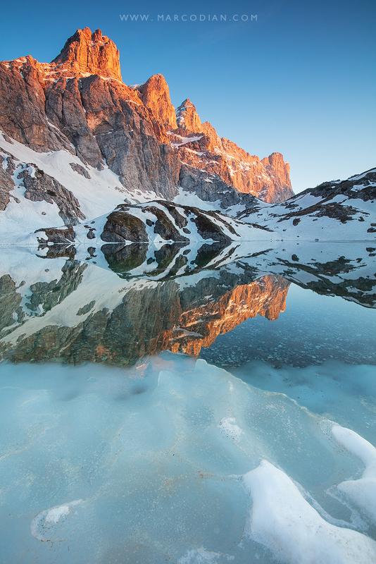 lago Coldai disgelo primavera