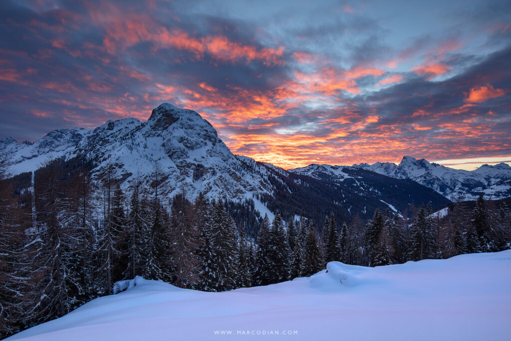crot tramonto inverno val fiorentina